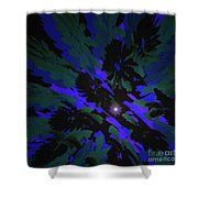 Jungle Night Sky By Jammer Shower Curtain