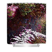 Jungle Red Tints Shower Curtain