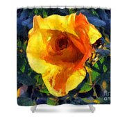 Jungle Rose Shower Curtain