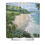 Jungle Waves Shower Curtain