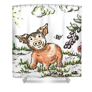 Junior Pig Shower Curtain