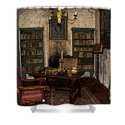 Junipero Serra Library In Carmel Mission Shower Curtain