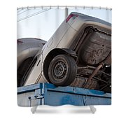 Junk Cars In Dumpster Cash For Clunkers Shower Curtain