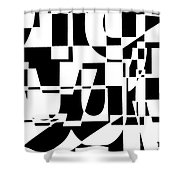 Junk Mail Shower Curtain by Elena Nosyreva