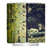 Junk Yard Shower Curtain