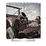 Junk Yard Sentinel Stands  Shower Curtain