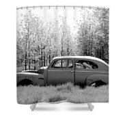 Junked Ford Car Shower Curtain