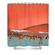 Junkyard Horizon Shower Curtain
