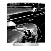 Junkyard Series Old Plymouth Black And White Shower Curtain