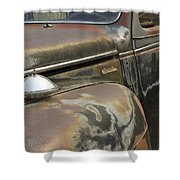 Junkyard Series Old Plymouth Shower Curtain