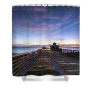 Juno Beach Pier Shower Curtain