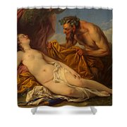 Jupiter And Antiope Shower Curtain