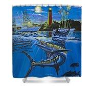Jupiter Boat Parade Shower Curtain