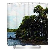Jupiter Florida Shores Shower Curtain