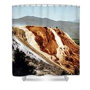 Jupiter Terrace Yellowstone National Park Shower Curtain