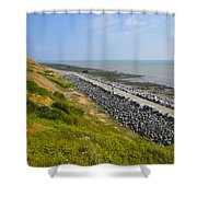 Jurassic Coast Shower Curtain