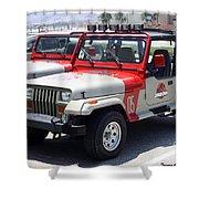 Jurassic Park Jeeps Shower Curtain
