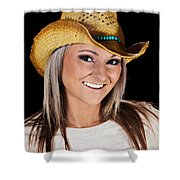 Just A Country Girl Shower Curtain