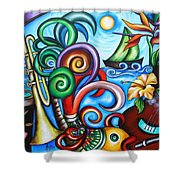 Just A Day In Paradise Shower Curtain