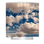 Just A Face In The Clouds Shower Curtain