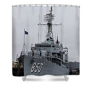 Just Another Battleship Photo Of The Uss Joseph P Kennedy Jr  Shower Curtain