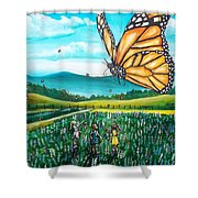 Just Another Monarch Monday Shower Curtain