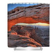 Just Before Sunrise At Canyonlands Shower Curtain