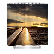 Just Before Sunrise Shower Curtain by Bob Orsillo