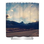 Just Down The Road Shower Curtain by Laurie Search