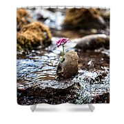 Just Let Your Love Flow Shower Curtain