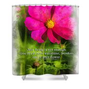 Just Living Is Not Enough 01 Shower Curtain