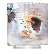 Just One Touch Shower Curtain