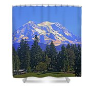 Just Over The Hill Mt. Rainier Shower Curtain