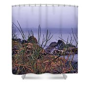 Just Over The Rocks Shower Curtain