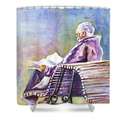 Just Passing The Time Away Shower Curtain