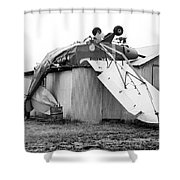 Just Plane Exhausted Shower Curtain