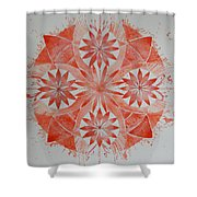 Just Red Mandala Shower Curtain
