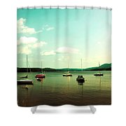 Just Sail Boats Shower Curtain