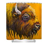 Just Sayin Bison Shower Curtain