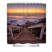 Just Steps To The Sea Shower Curtain