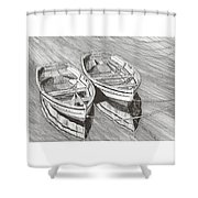 Two Dinghy Friends Just The Two Of Us Shower Curtain