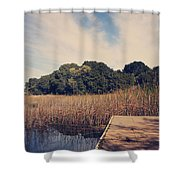 Just To Make This Dock My Home Shower Curtain by Laurie Search