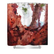 Just Your Average Tree Shower Curtain
