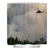K-max Helicopter On Myrtle Fire Shower Curtain