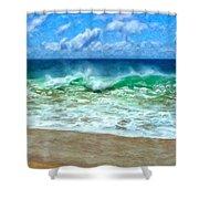 Kaanapali Shorebreak Maui Shower Curtain