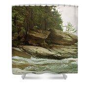 Kaaterskill Falls In Autumn, Catskill Shower Curtain