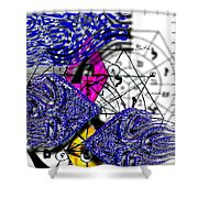 Kabbalah And Fish Shower Curtain
