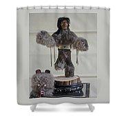 Kachina Doll Bear Head Removed Shower Curtain