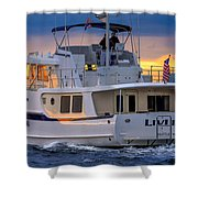 Kadey Krogen Yacht Shower Curtain