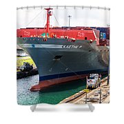 Kaethe P Container Ship Panama Canal Shower Curtain